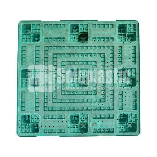 tarima de plastico pallet palets soporte para carga en mexico seminuevo para venta y renta reutilizable retornable 45x48